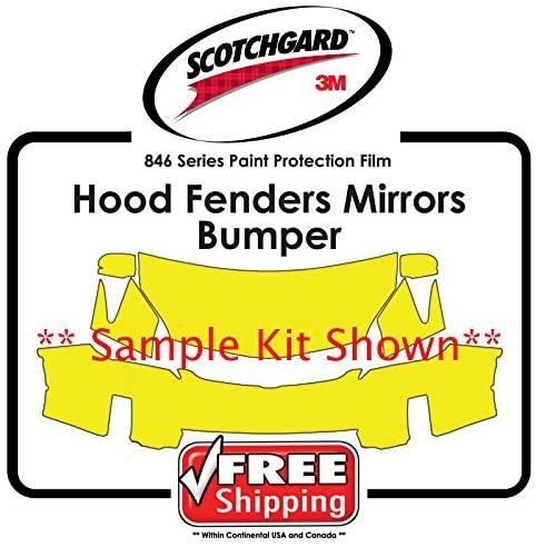 Kits for Cadillac - 3M 846 Scotchgard Paint Protection Film - Hood Bumper Fender Mirror