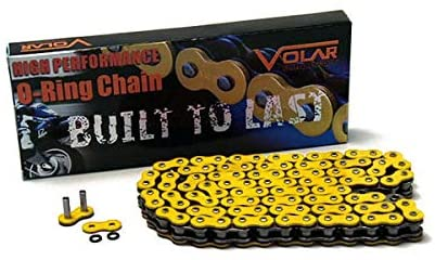 Volar O-Ring Motorcycle Chain - Yellow for 525 x 116 Links
