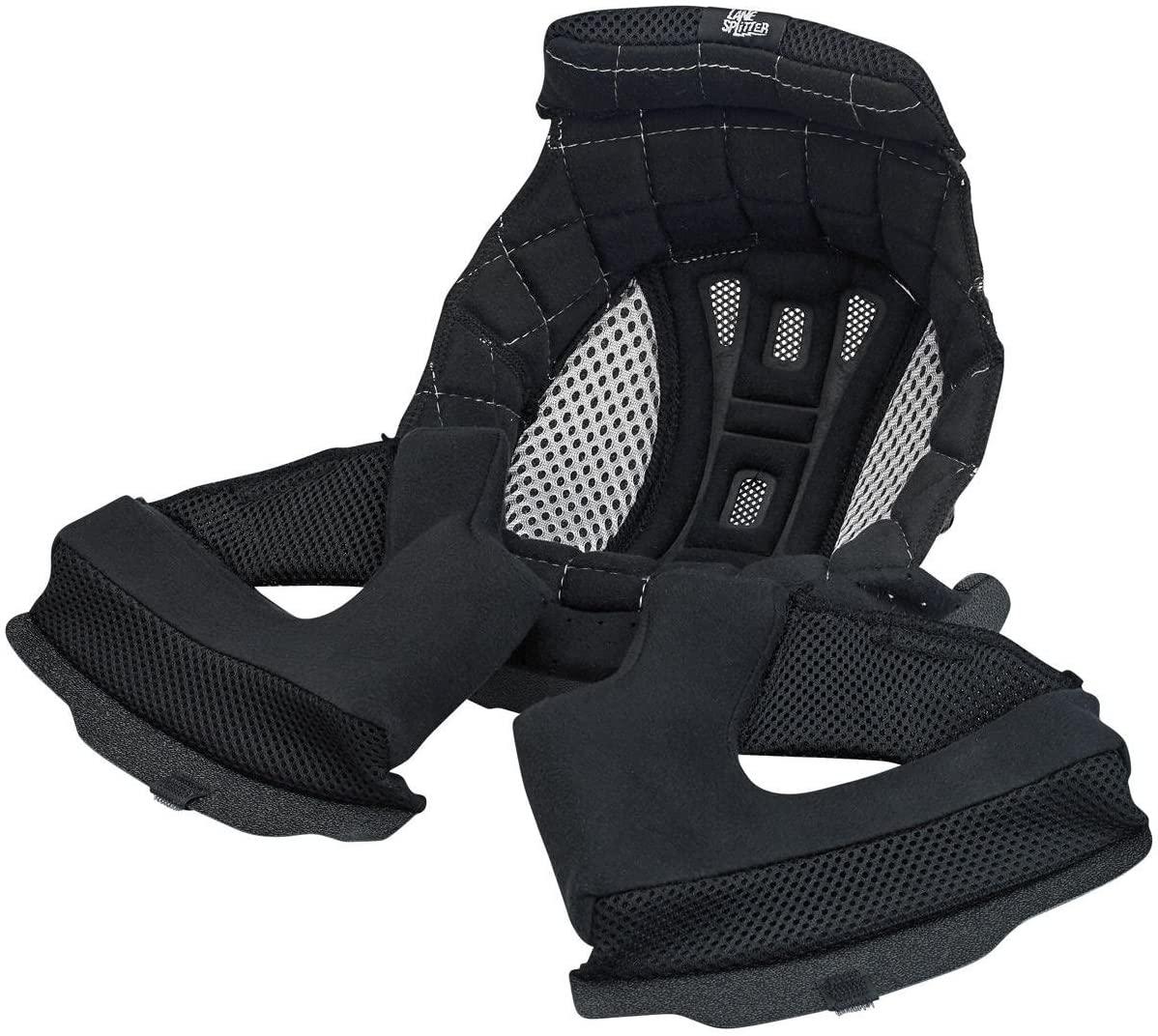 Biltwell Lane Splitter Helmet Liner - Black/Silver - X-Large