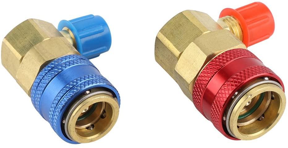 SANON Car Air Condition Fluoride Joints Quick Couplers Connectors for Refrigerant R134a 1 Pair
