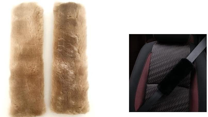 Vace Select Ultra Soft Faux Sheepskin Seatbelt Shoulder Pads 1 Pair (Tan)
