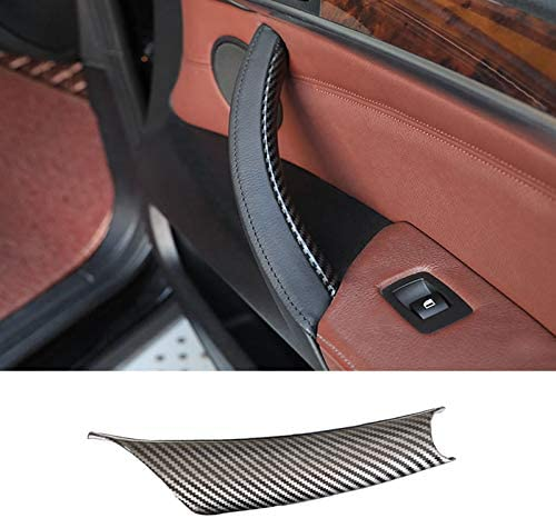 Door Handle Inner Trim Decor for BMW X5 X6, TTCR-II Right Carbon Fiber Armrest Handle Inner Bracket Cover Fits BMW X5 E70 2007-2013 X6 E71 2008-2014