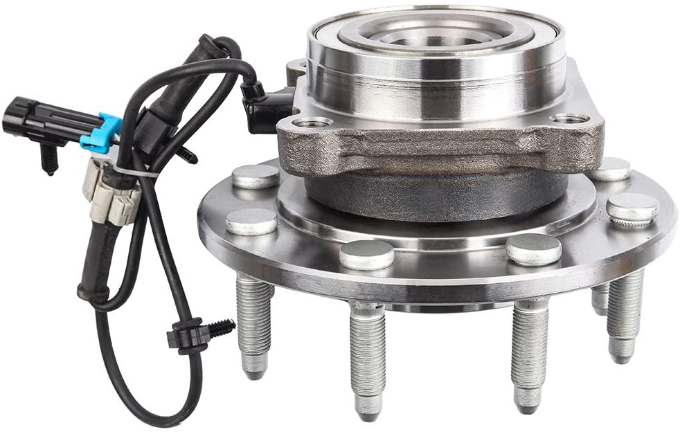 SCITOO 515086 Wheel Hub and Bearing Assembly Front for GMC Yukon for Chevrolet Avalanche for Chevrolet Silverado for Chevrolet Suburban Hub Bearing Kit 8 Bolts with ABS Sensor RWD