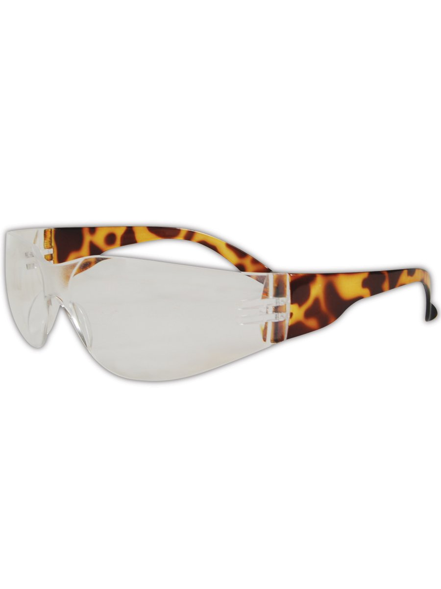 Magid Y10 Gemstone Myst Colored Temple Protective Eyewear with High viz Tortoise Shell with Clear Lens (48 Pair)