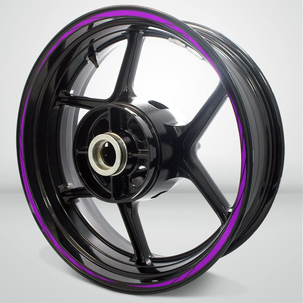 Matte Purple Spiral Outer Rim Liner Stripe for Yamaha