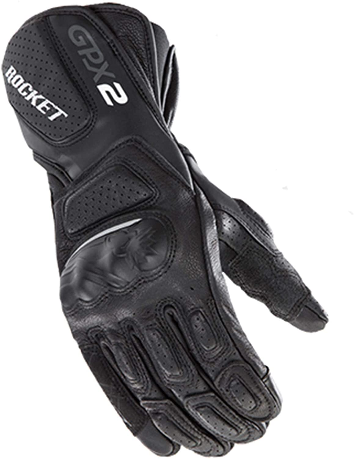 Joe Rocket GPX 2.0 Men's Street Motorcycle Gloves - Black/Black / 3X-Large