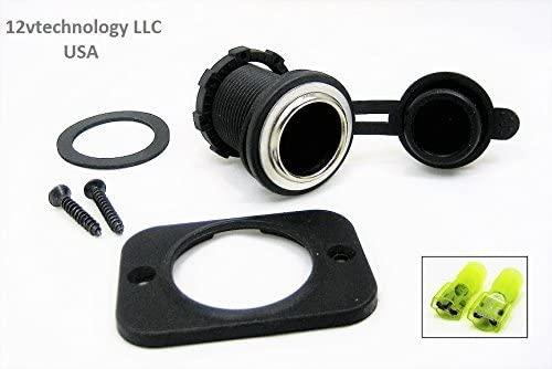12vtechnology Waterproof Front High Power 25 Amp 12V Plug Appliance Accessory Socket Power Outlet JD#