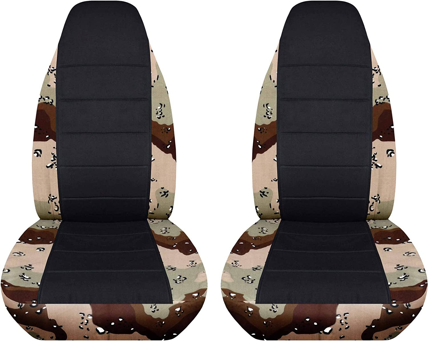 Totally Covers Camouflage & Black Car Seat Covers: Desert Storm Camo - Semi-Custom Fit - Front - Will Make Fit Any Car/Truck/Van/RV/SUV (22 Prints)