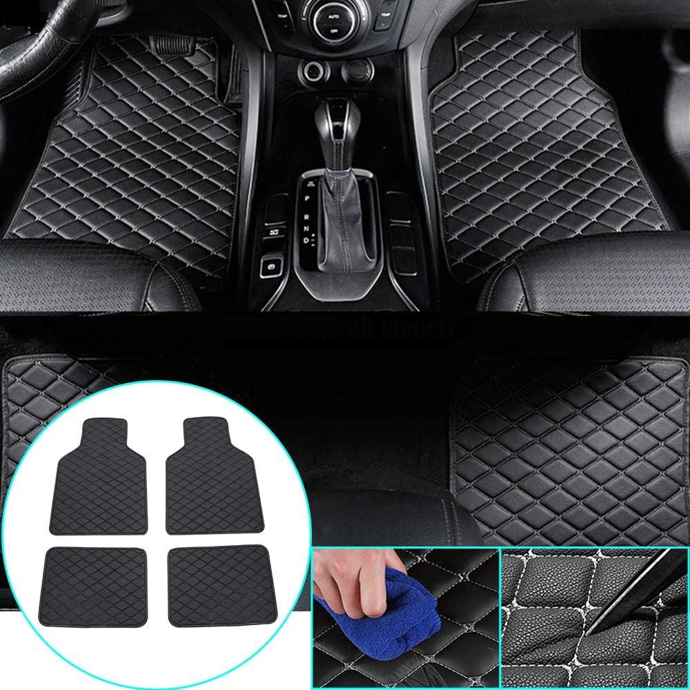 4Pcs Car Floor Mats for Suzuki Liana Alto Swift Antelope SX4 All Weather Waterproof Carpet Black