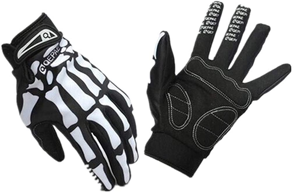 Full Finger Glove Sport Cycling Bike Motorcyle Skull Skeleton Glove