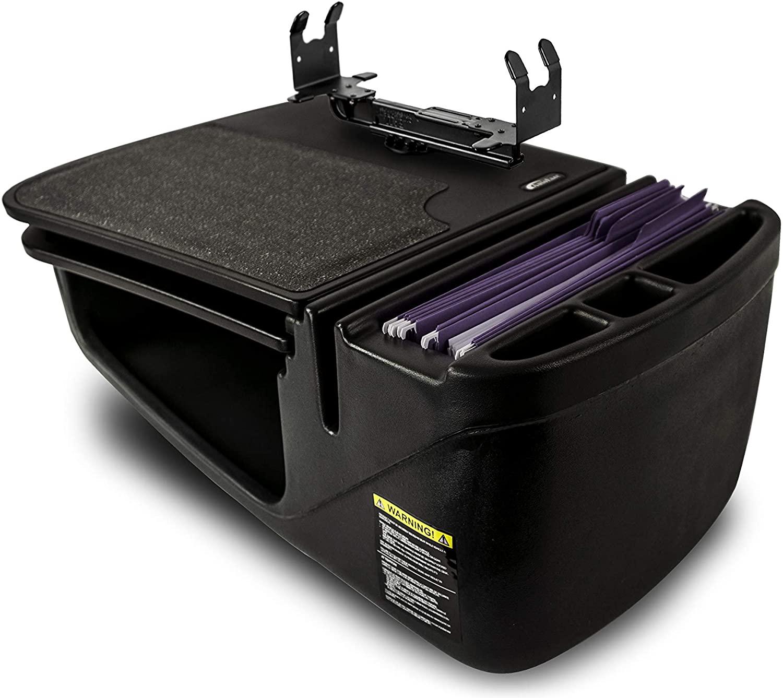 AutoExec AUE10059 GripMaster Car Desk Black Finish with Printer Stand