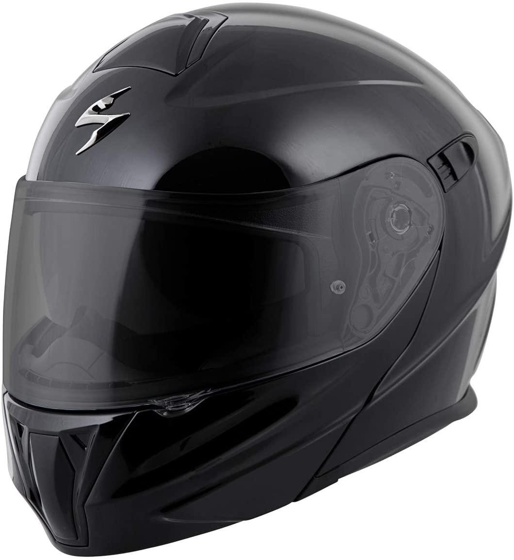 ScorpionExo EXO-GT920 Full Face Modular Helmet (Solid Black, X-Small)