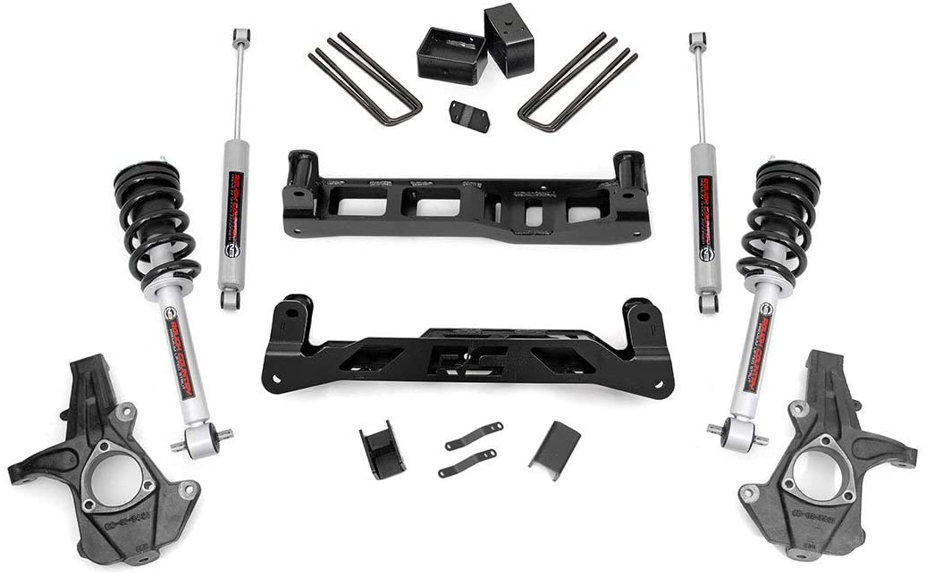 Rough Country 5 Lift Kit (fits) 2014-2018 Chevy Silverado GMC Sierra 2WD 1500 | N3 Loaded Struts/Shocks | 24733