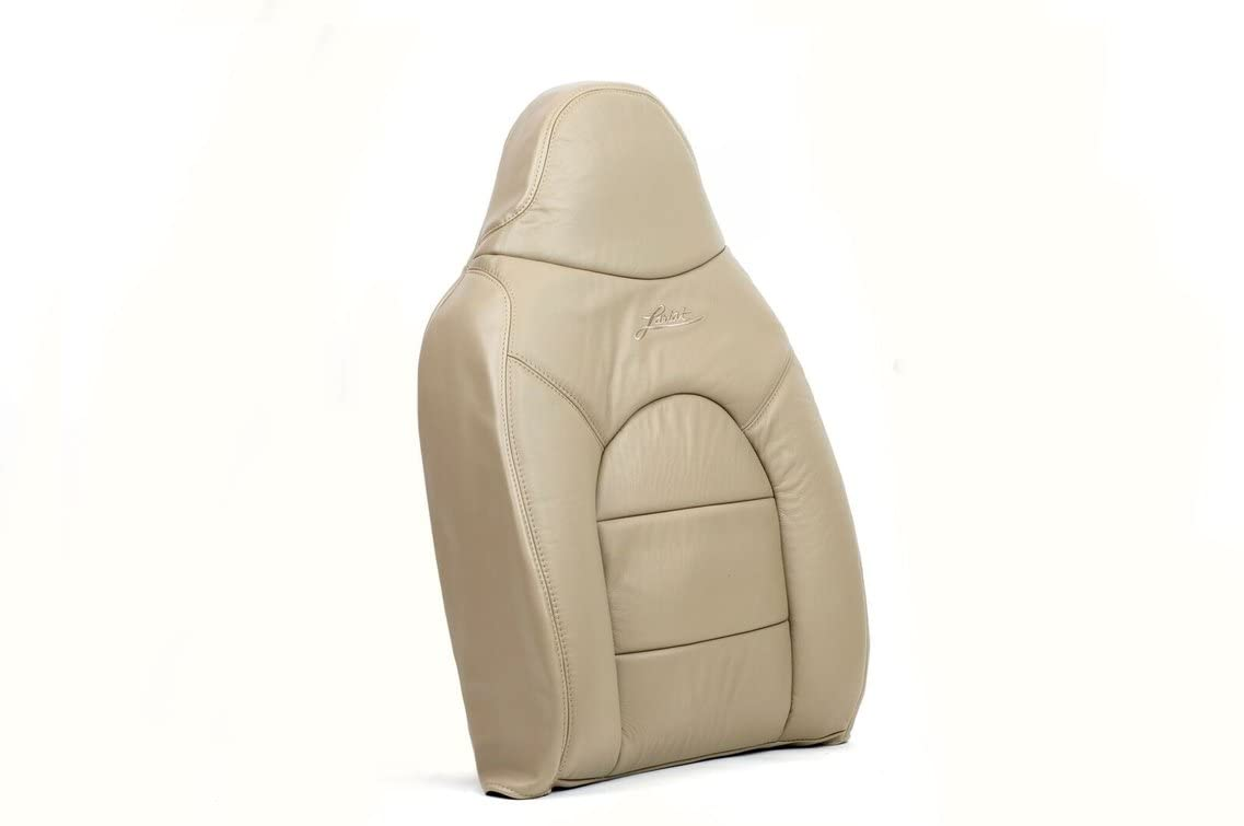 Us Auto Upholstery compatible with 1999 Ford F250 Lariat -Passenger Lean Back Replacement Leather Seat Cover TAN-