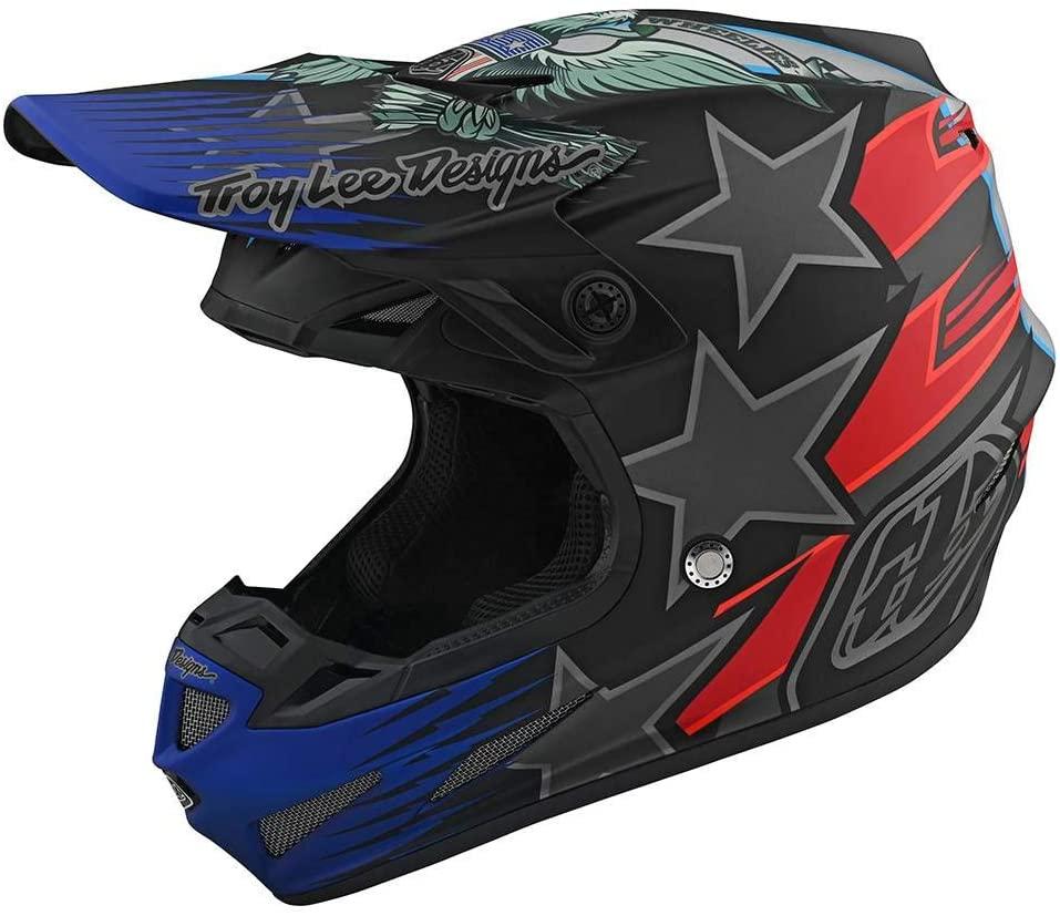 Troy Lee Designs SE4 Composite LTD Liberty Adult Off-Road Motorcycle Helmet - Black/Medium