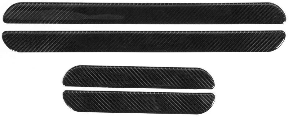 TKSE 4pcs Carbon Fiber Exterior Door Sill Pedal Cover Trim Anti-Scratch Scuff Protector Fits Compatible with H-O-N-D-A Civic 10th 16-19