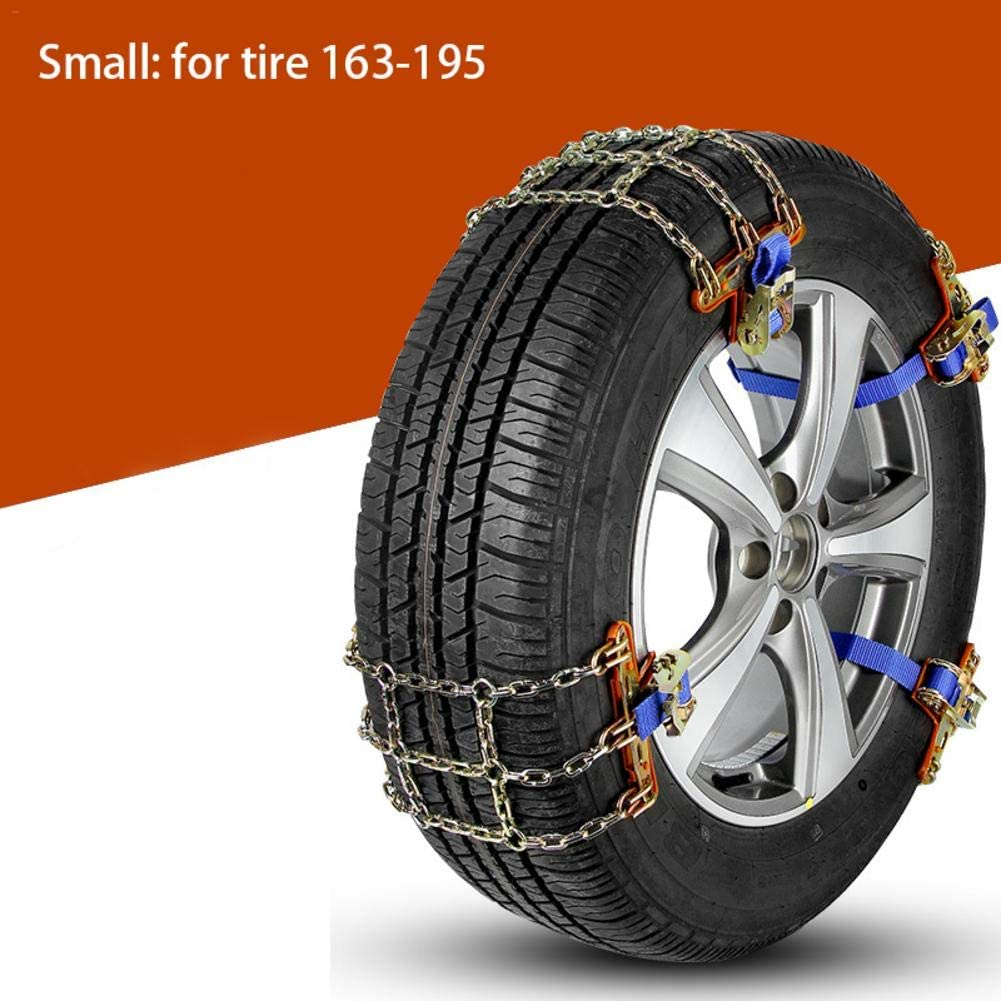 weemoment Car Snow Chains Emergency Anti Slip Snow Tire Chains for Most Cars/SUV/Trucks, Winter Driving Universal Security Chains for Ice Snow Muddy Road, Tire Width 165mm-275mm/6.5-10.8'' First-Rate