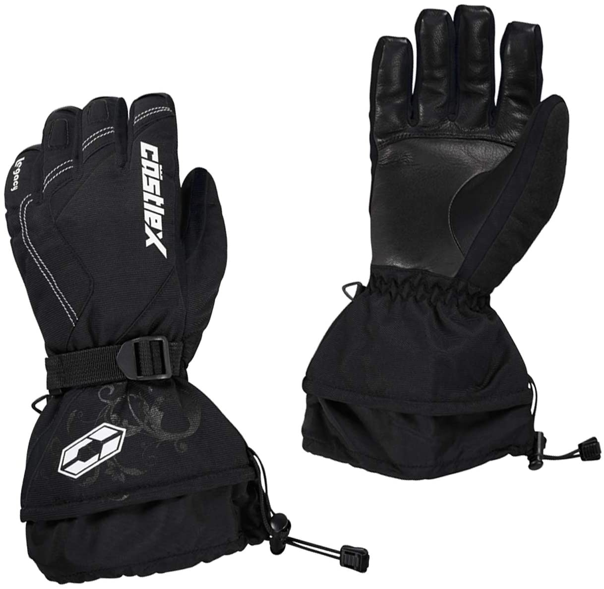 Castle X Legacy Womens Snowmobile Gloves - Black - SML