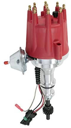 A-Team Performance Pro Series Ready to Run R2R Distributor Compatible With Ford SB Small Block 221 260 289 302 5.0L, V8 Engine Red Cap