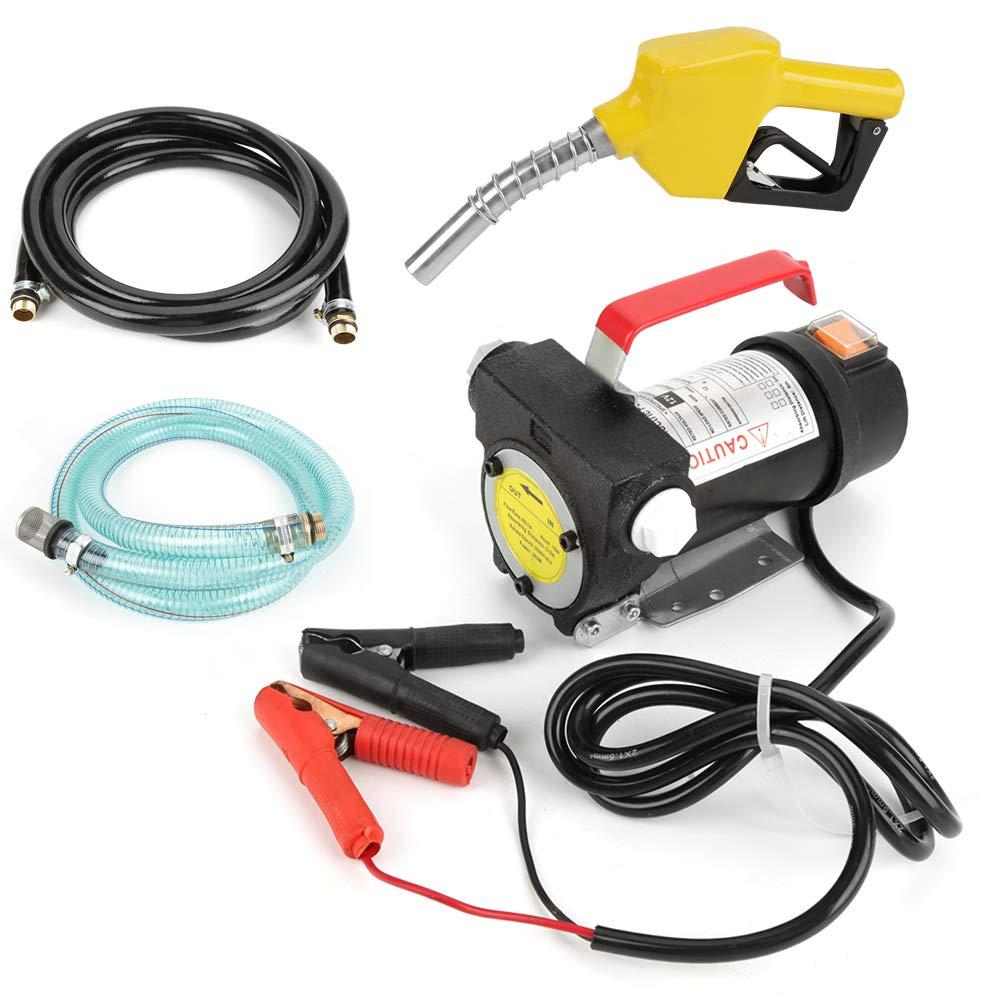 Simlug Fuel Transfer Pump Kit, 12V 155W 40L/min Electric Fuel Diesel Kerosene Oil Transfer Pump Kit