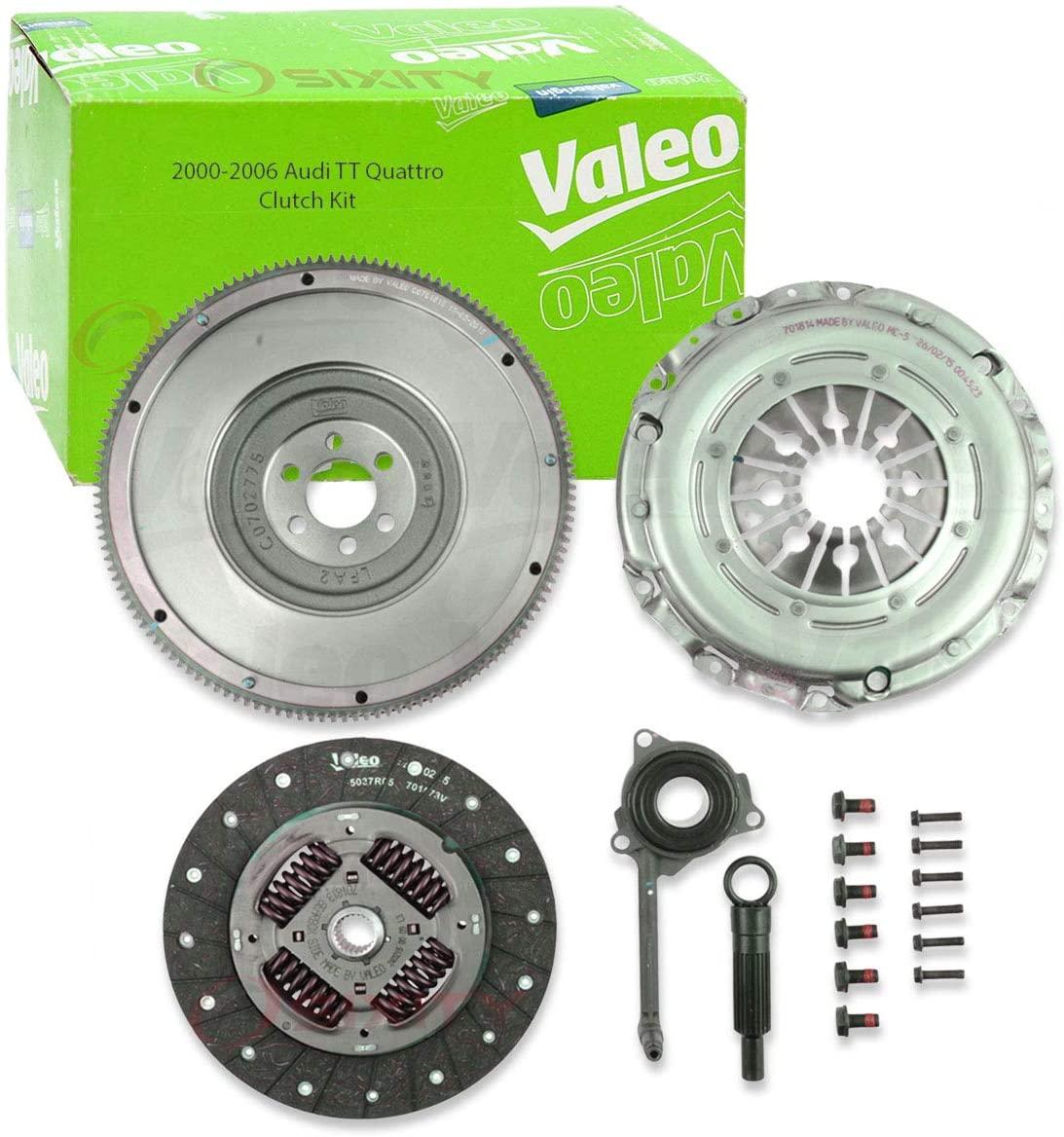 Valeo Clutch Kit for 2000-2006 Audi TT Quattro 1.8L L4 - Manual Transmission Clutch Disc Pressure Plate Cover Release Bearing