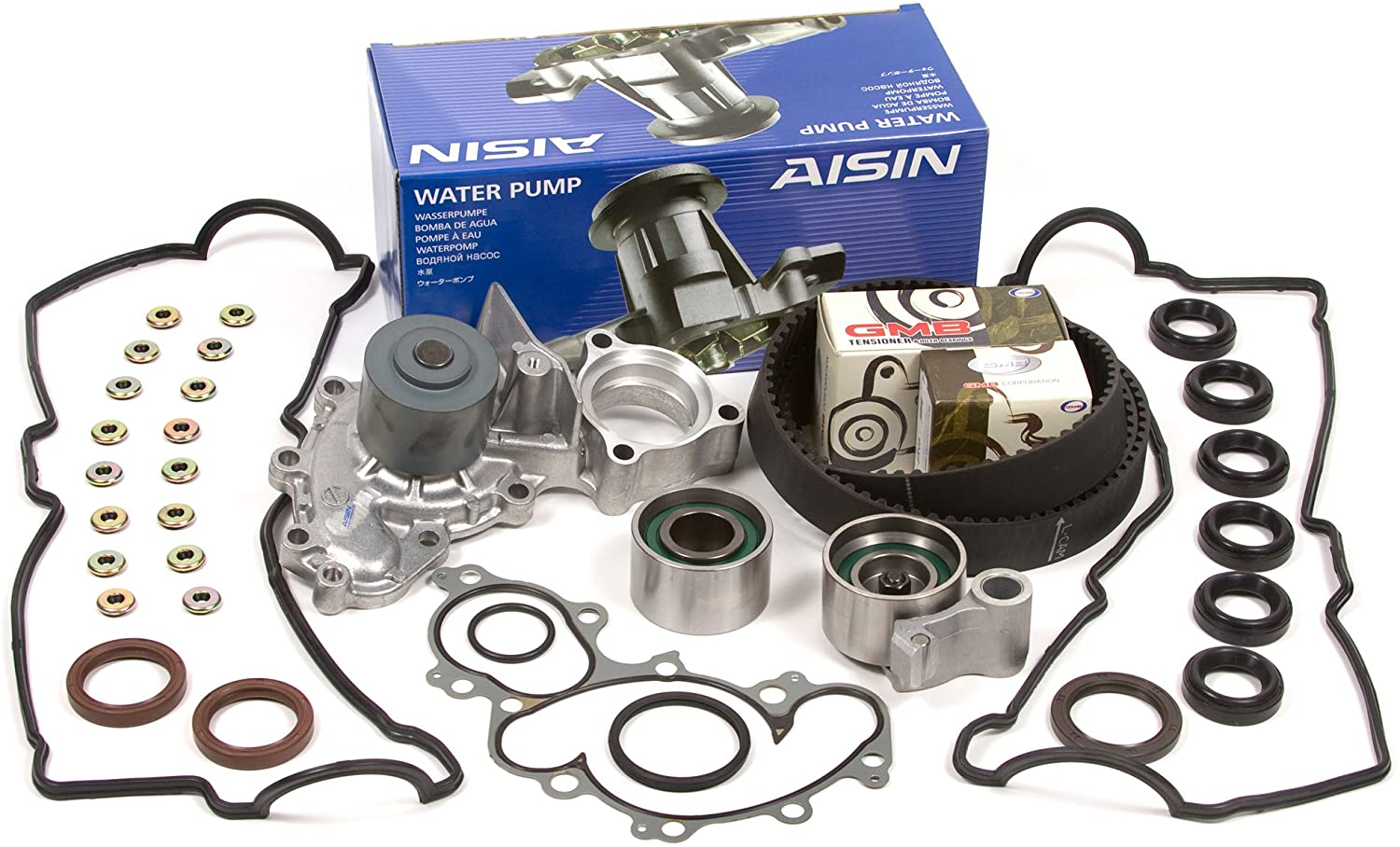 Compatible With 92-93 Toyota Lexus 3.0 DOHC 24V 3VZFE Timing Belt Kit AISIN Water Pump Valve Cover Gasket
