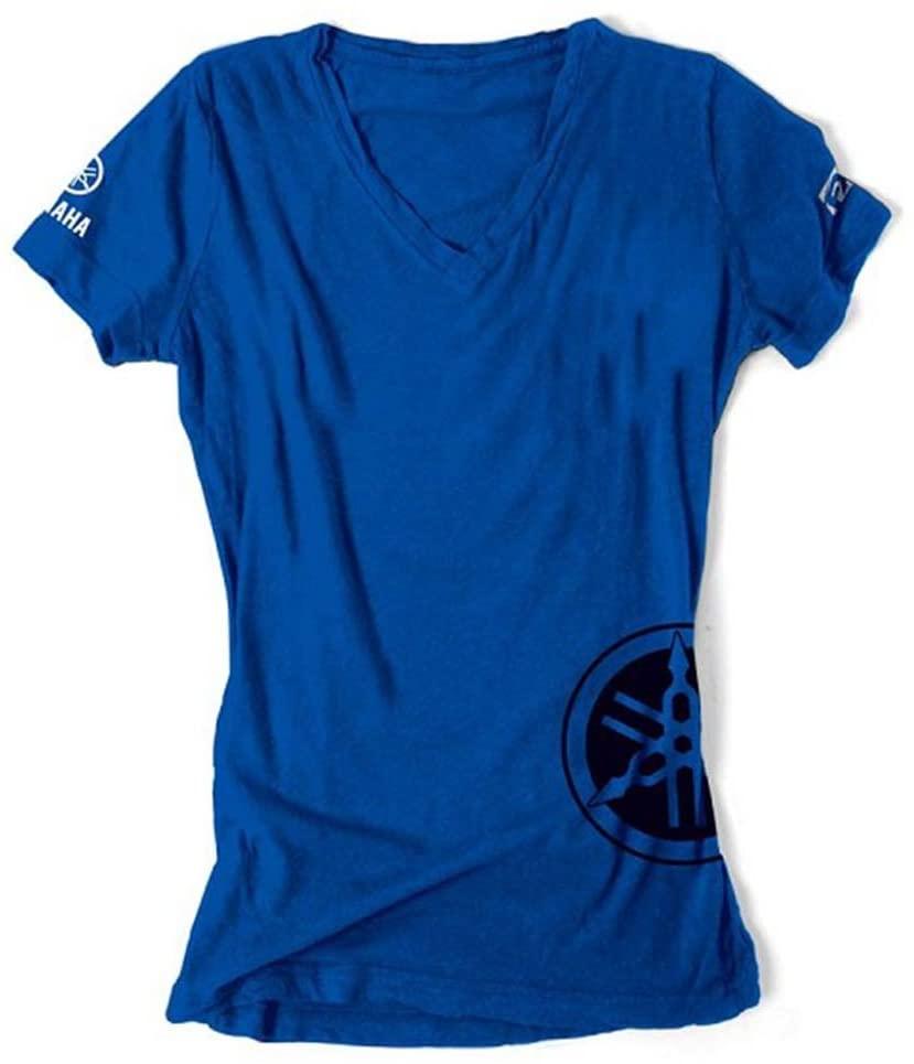 Factory Effex (17-87242) Women's 'YAMAHA' T-Shirt (Royal, Medium)