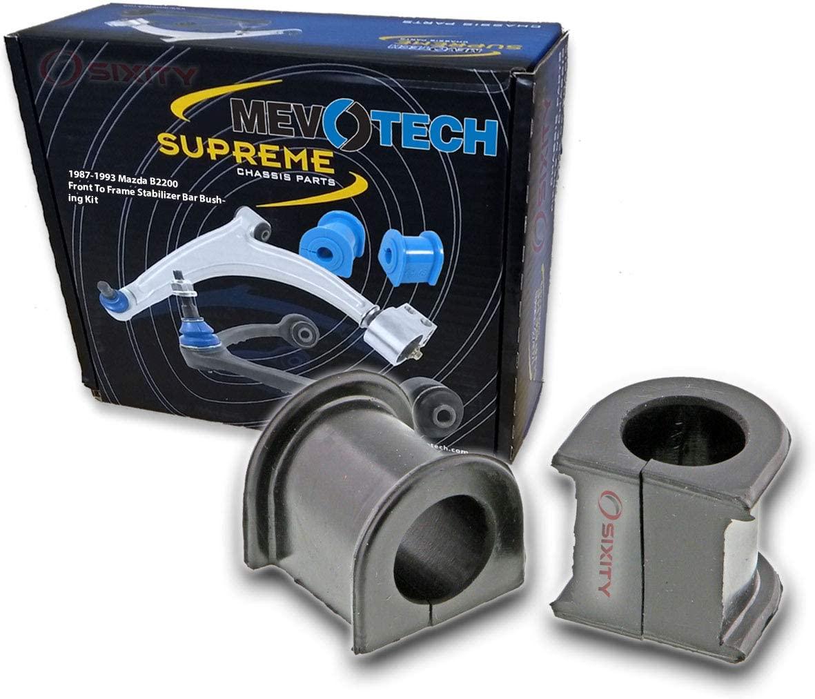 Mevotech Front To Frame Stabilizer Bar Bushing Kit for 1987-1993 Mazda B2200 - Suspension Springs Absorber