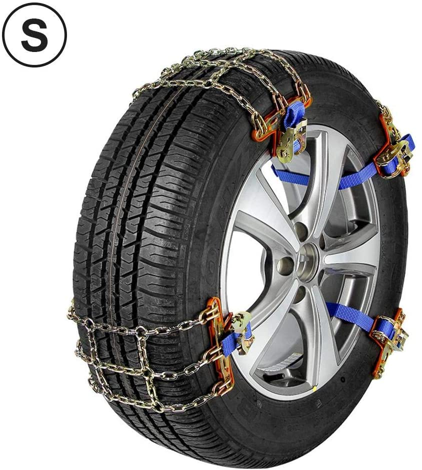 weemoment Car Snow Chains Emergency Anti Slip Snow Tire Chains for Most Cars/SUV/Trucks, Winter Driving Universal Security Chains for Ice Snow Muddy Road, Tire Width 165mm-275mm/6.5-10.8'' Enhanced