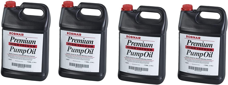Robinair 13204 Premium High Vacuum Pump Oil - 4- one gallon jugs