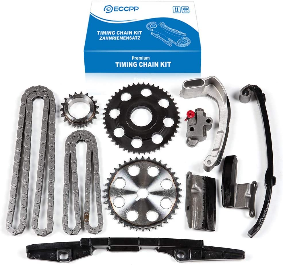 ECCPP G601-12-611A Timing Chain Kits Fits with Tensioner 2001 2002 2003 2004 2005 2006 2007 2008 2009 2010 2011 2012 Ford Ranger 2003 2004 2005 2006 2007 2008 2009 2010 Mazda B2300