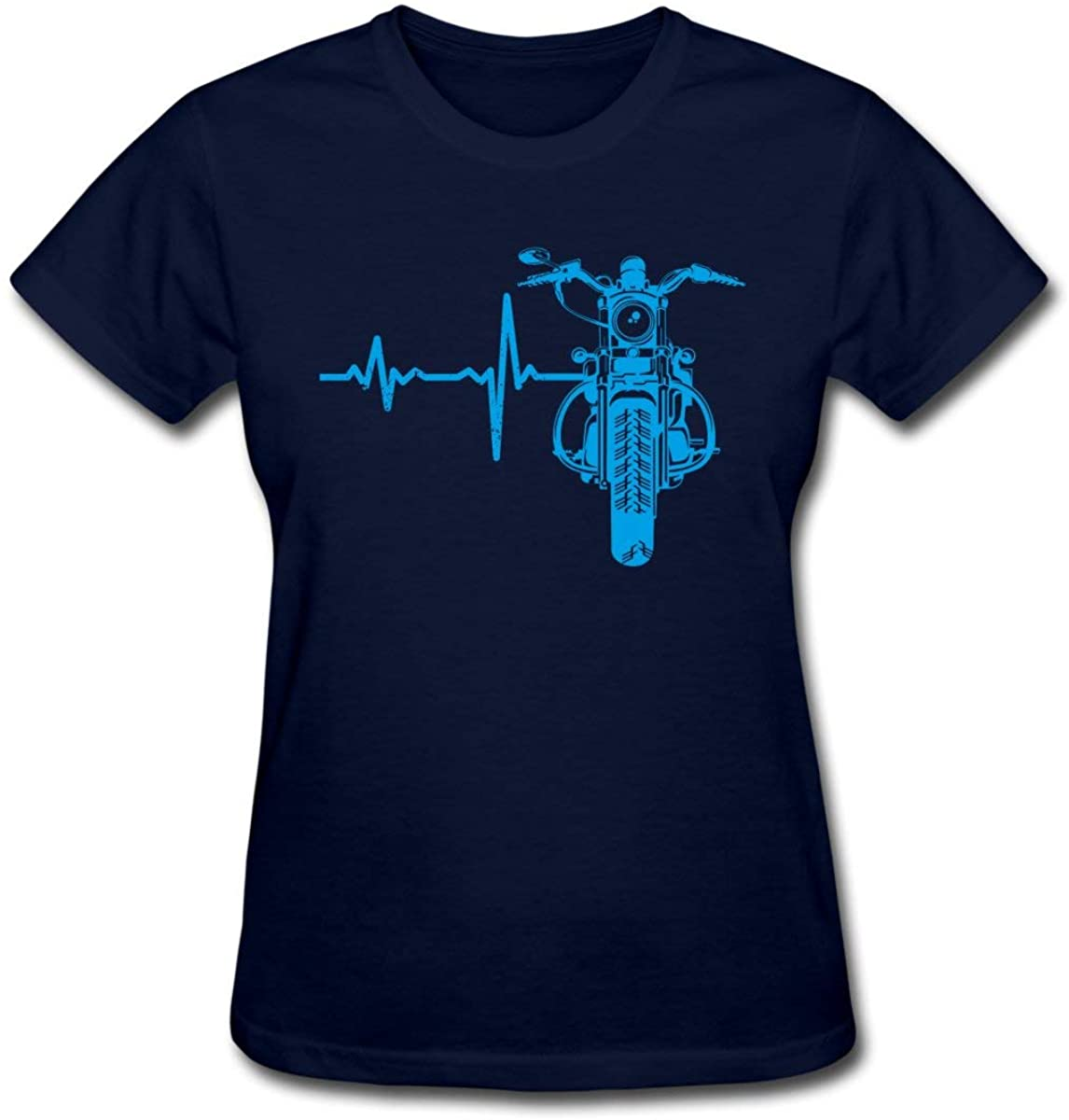 Heartbeat ECG Motorcycle Bike Women's T-Shirt