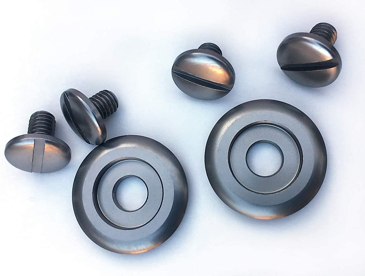 Shield Pivot Kit to fit Arai CK6 Helmets 6pc Kit Anodized (gray)