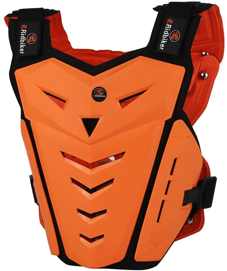 Ridbiker Motorcycle Armor Vest Motorcycle Riding Chest Armor Back Protector Armor Motocross Off-Road Racing Vest (orange)