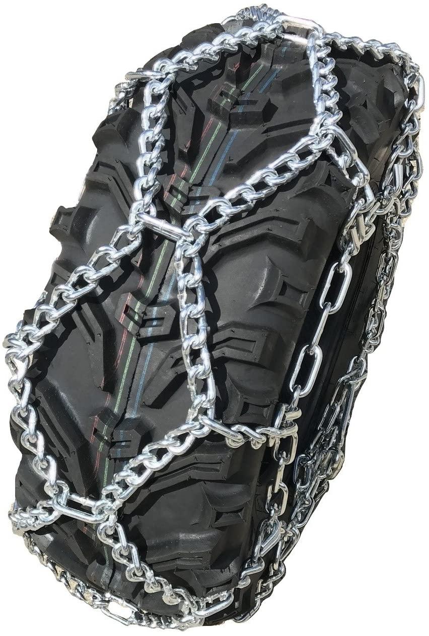 TireChain.com Compatible with Honda TRX 400/420 Rancher 04-15 (F) 24x8-12 ATV UTV NOT Studded. NOT V-BAR Tire Chains