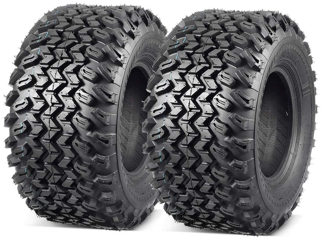 MaxAuto 2 Pcs All Trail Tire 22x11.00-10 Lawn Mower Golf Cart Tire for Hilly Terrian 6Ply