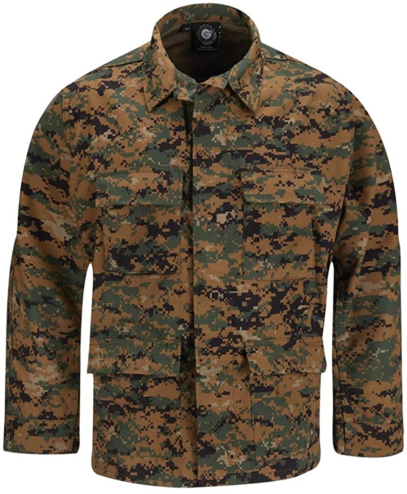 PROPPER F545025 Adult's BDU 60C/40P Twill Coat Woodland Regular
