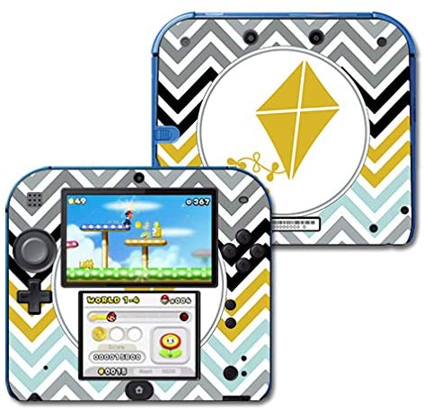 MightySkins Compatible with Nintendo 2DS - Kappa Alpha Theta Trendy Chevron | Protective, Durable, and Unique Vinyl Decal Wrap/Decal | Device Not Included - This is A Skin| Made in The USA