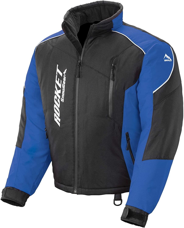 Joe Rocket Men's Snowgear Storm XC Jacket (Black/Blue, X-Large)