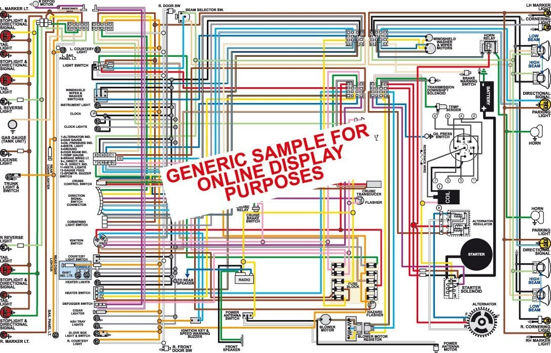 Full Color Laminated Wiring Diagram FITS 1964 Dodge Dart Large 11