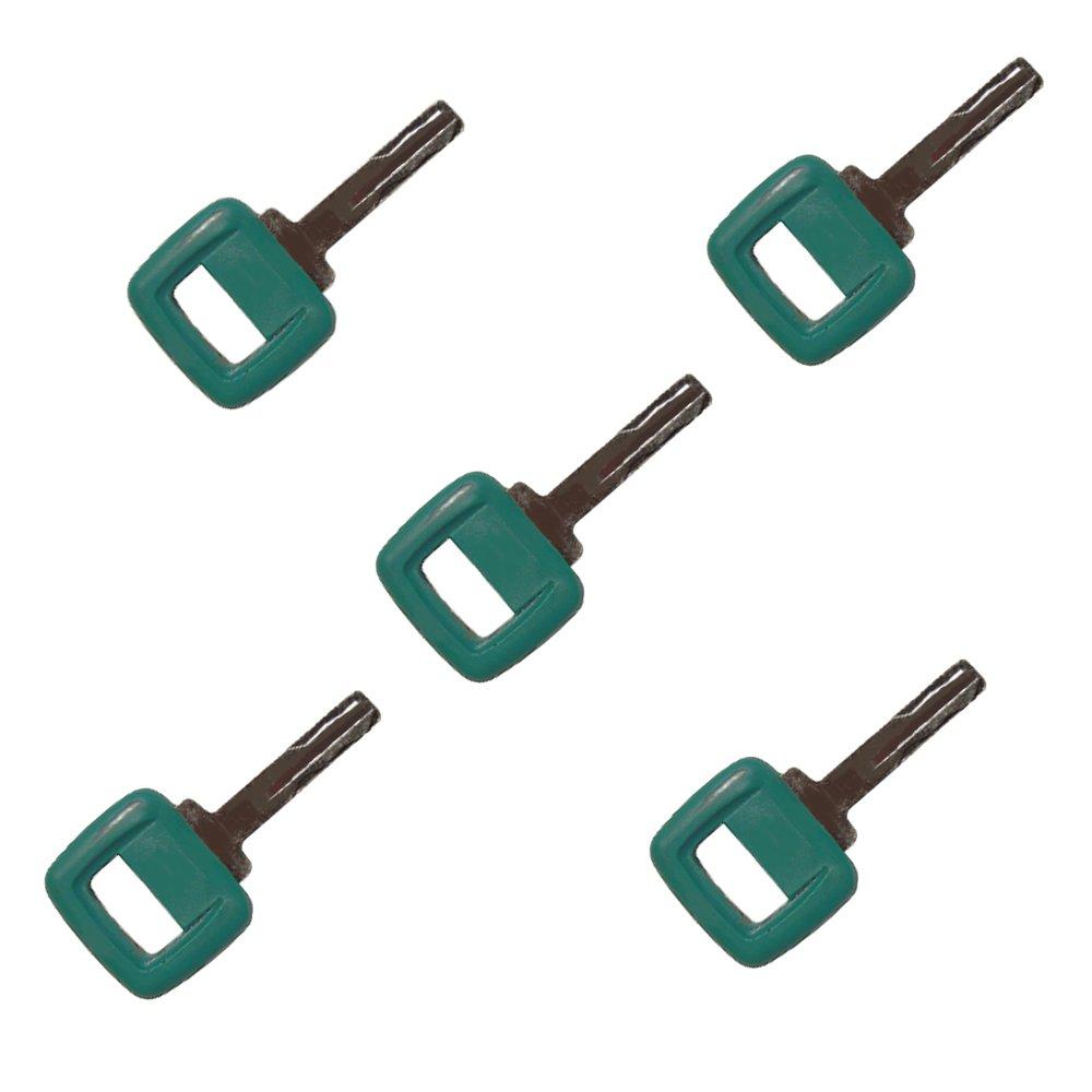 17225331 11039228 (5) Laser Cut Ignition Keys fits Volvo Clark-Michigan Volvo Articulated Hauler Models A20C A25C A30C