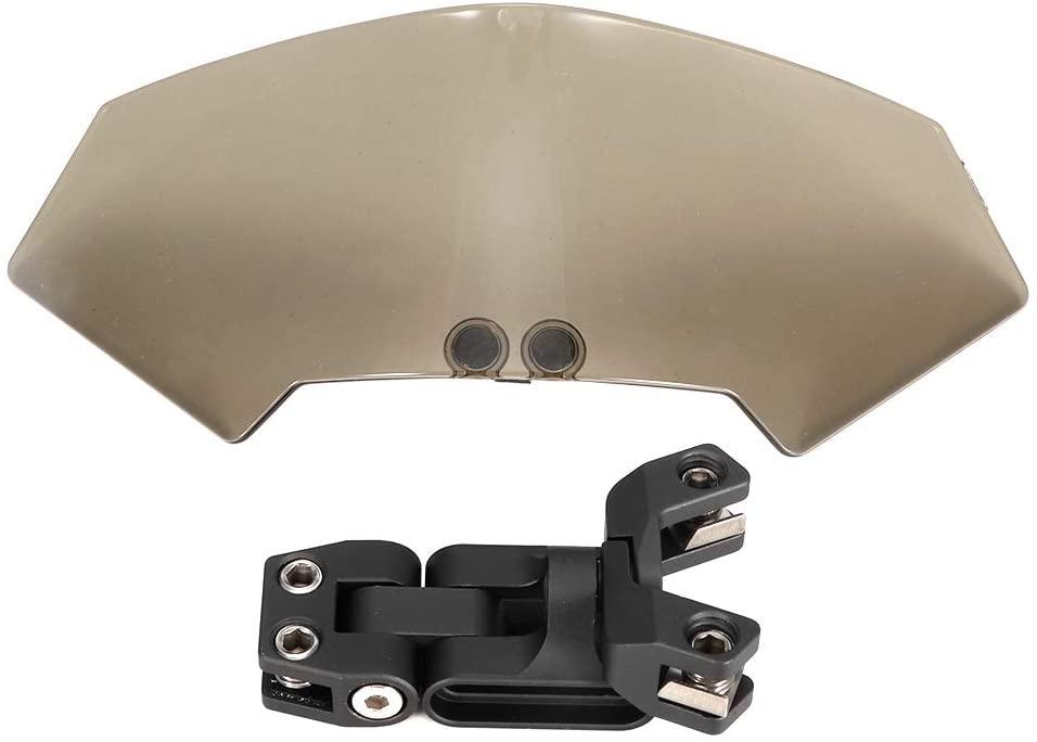Motorcycle Windshield, Motorcycle Universal Adjustable Windscreen Wind Deflector Windshield Modified Parts (Smoke)