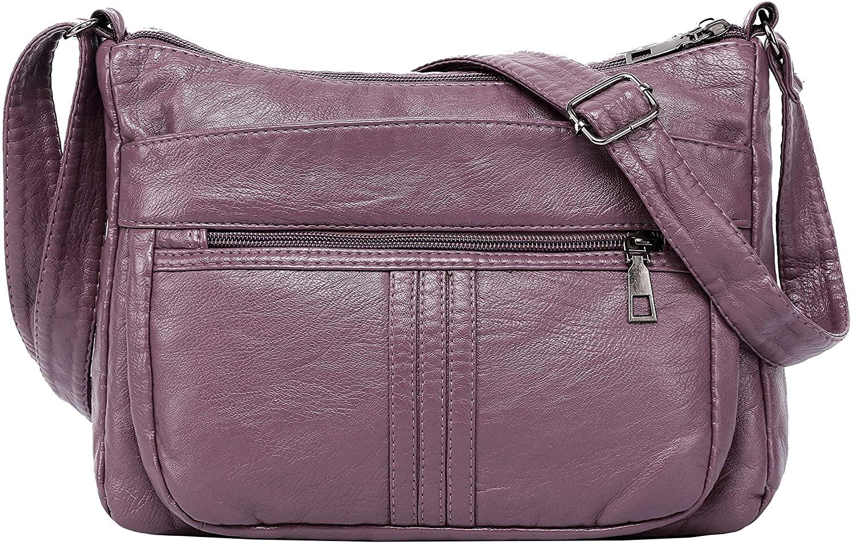 Functional Multi Pocket Crossbody Bag Multi-Zipper Crossbody Handbag Purse