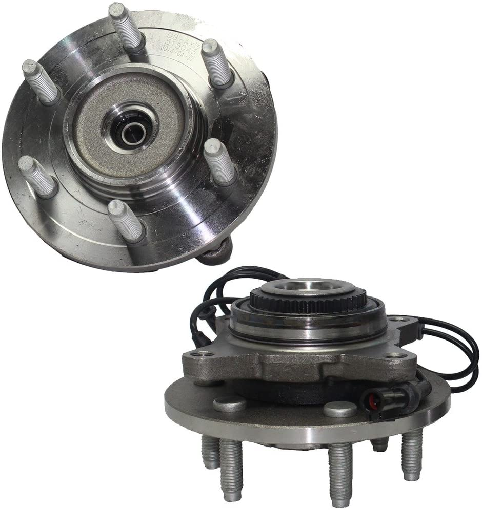 Detroit Axle 515043 Front Wheel Bearing and Hub Assembly For 2003, 2004, 2005, 2006 Ford Expedition, Lincoln Navigator (2pc Set, 4x4 Only)