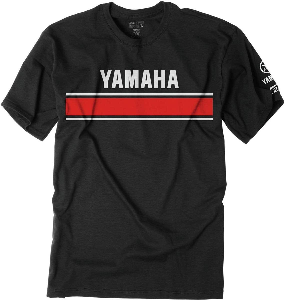 Factory Effex Unisex-Adult Yamaha Retro T-Shirt (Black, Medium)
