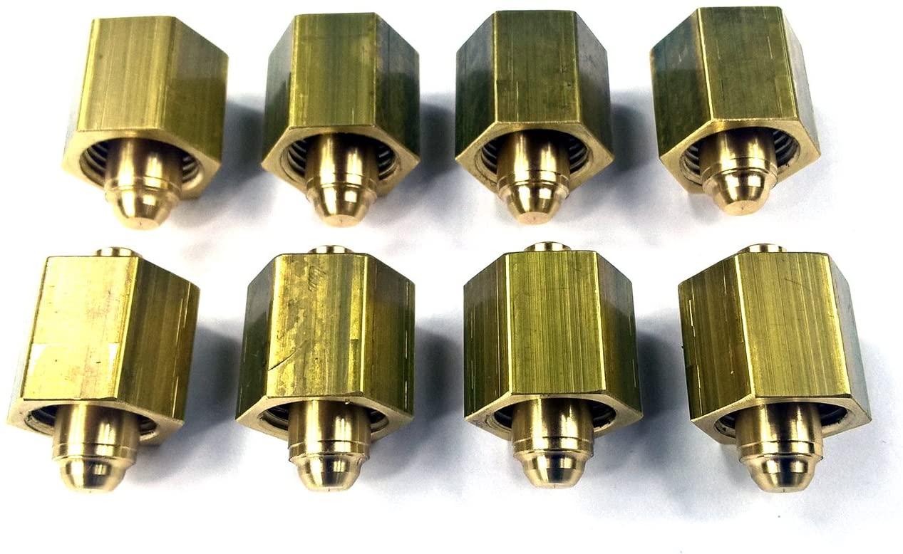 TamerX 16mm Diesel Fuel Injector Cap/Block-Off Tool Set for 2011-2016 Chevrolet/GMC 6.6L Duramax LGH, LML (8-Pack)