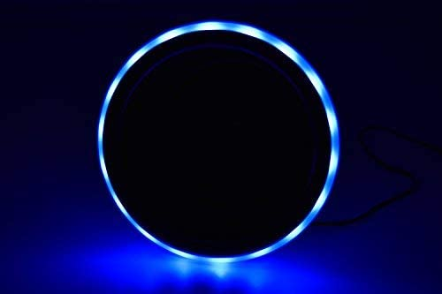 MARINE CITY Blue LED Light Ring Stainless-Steel Cup Drink Holder with Drain