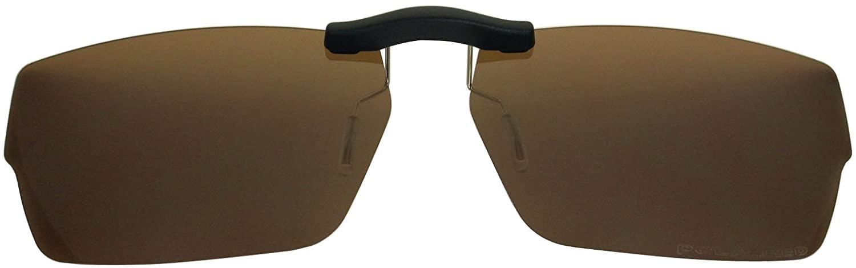 Custom Fit Polarized CLIP-ON Sunglasses For Oakley Muffler 53X18 Brown