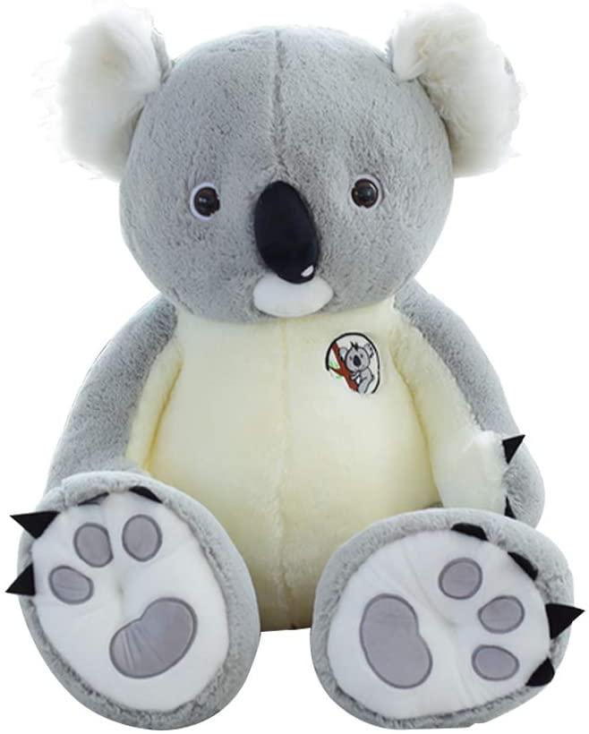 iCoup Colby Brock Cute Soft Stuffed Animal Rag Doll Koala Plush Toy Gray, 70cm/27.56