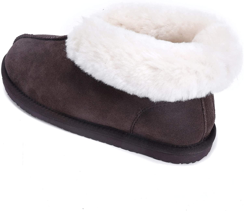 Lamb Women Outdoor Slippers Genuine Leather Australian Sheepskin